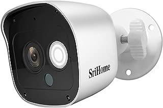 Srihome SH029 3MP Ultra HD 1296p Wireless WiFi Waterproof Indoor/Outdoor IP Security Camera CCTV with 2 Way Audio