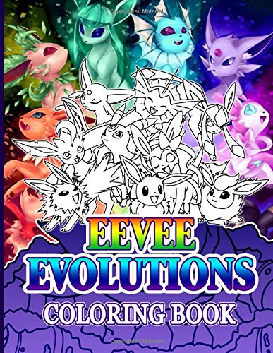 Eevee Evolutions Coloring Book: The Color Wonder Coloring Books For Adults Unique Colouring Pages