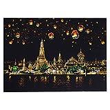 RONSHIN Creative Bricolage Scratch Ville Lumineuse Nuit Vue raclage Peinture Monde visites touristiques comme Cadeaux Chiang Mai, Thailand