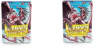 2 Packs Dragon Shield Matte Mini Japanese Pink 60 ct Card Sleeves Value Bundle!