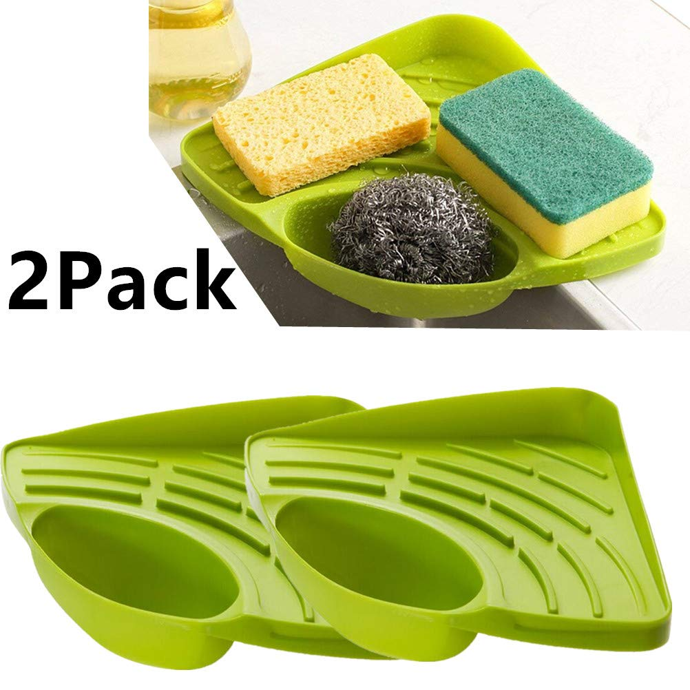 Stylez 2pcs Kitchen Sink Corner Storage Rack Sponge Holder Cleaning Brush Holder Bathroom Buy Online In Faroe Islands At Faroe Desertcart Com Productid 140035452