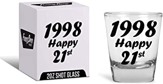 21st Birthday Gift Shot Glass - Best Drinking Birthday Gift Ideas - Celebrate Turning Twenty One With The Best Supplies