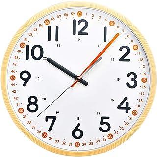 Wall Clock Non-Ticking Wall Clock خط حائط كبير على مدار الساعة طرفين مؤشر في مرحلة الطفولة المبكرة التعليم المعرفي ساعة ال...