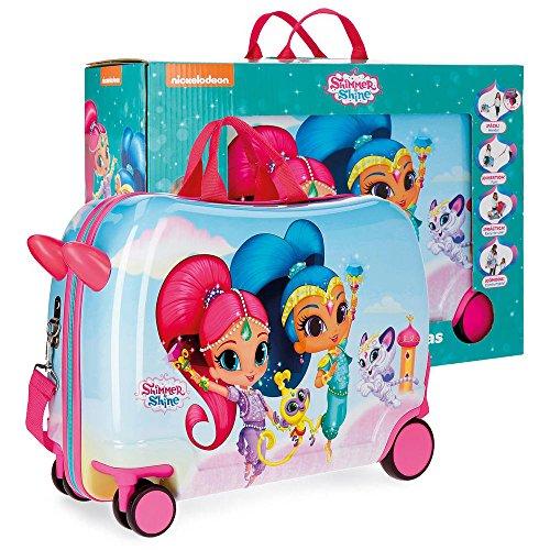 Shimmer and Shine Twinsies Kinder-Koffer Mehrfarbig 50x38x20 cms Hartschalen ABS Kombinationsschloss 34L 2,3Kgs 4 Räder Handgepäck
