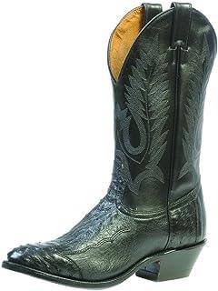 American Boots - Cowboy Exotic (Ostrich) BO-1513-72-E (Normal Walking) - Men - Black