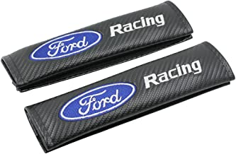 Carbon Fiber Racing Sports Style Car Seat belt Cover Shoulder Pads For Ford 1-Pair by GOOACC