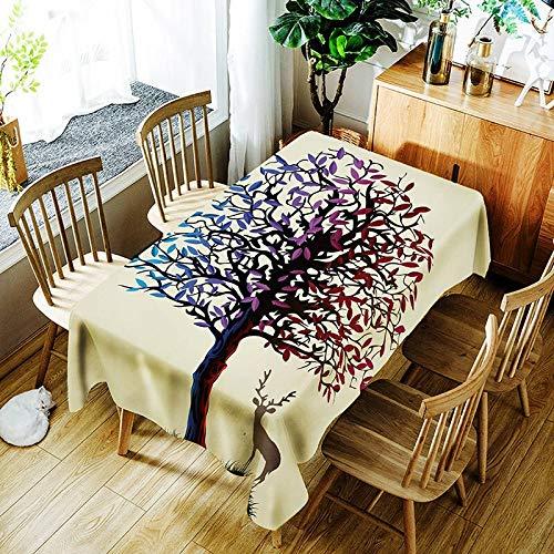 XXDD Mantel Impermeable Creativo de Dibujos Animados patrón de impresión Digital Mantel de Fiesta de Boda Mantel Impermeable A1 150x210cm