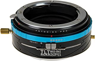 Fotodiox Pro Tlt Rokr - Tilt/Shift Lens Mount Adapter for Nikon NIKKOR F Mount G-Type D/SLR Lenses to Sony Alpha E-Mount M...