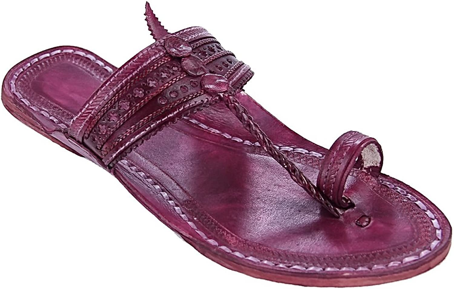 KOLHAPURI CHAPPAL Original Stunning Purple for Men Slipper Sandal