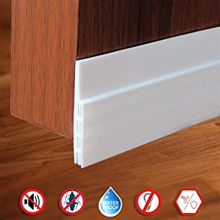 Door Draft Stopper,Self Adhesive Strong Under Door Silicone Sweep, Weather Stripping Insulation Draft Noise Dustproof Door Bottom Seal Strip,2