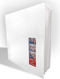 """Photo Booth Album for 2""""x6"""" Photo Strip Pics - 60 Pages Holds 240 Photobooth Photos - Free Storage CASE - Slide-in Photo Booth Photo Album - 2 inch x 6 inch Size – Wedding Scrapbook Photos"""