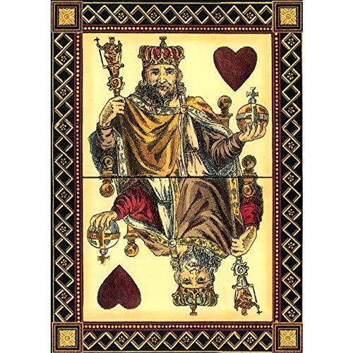 Knncch König Spielkarte Wandkunst Poster und Drucke Vintage Leinwandbilder an der Wand Bilder für Wohnzimmer-30x40cm