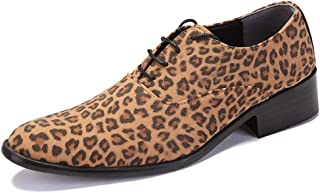 Best-choise Léopard De Mode Imprimé Oxford Chaussures pour Hommes en Cuir Microfibre d'affaires De Mariage Mocassins Anti-...