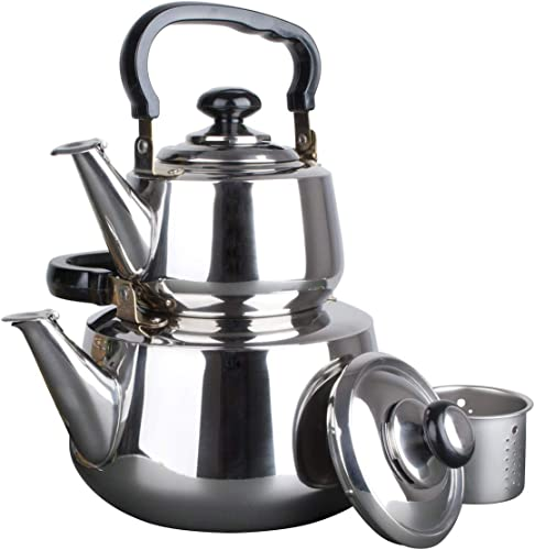 new arrival Aramco Double online Tea Kettle, 1.2/3L, new arrival Stainless Steel outlet sale