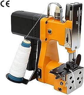 HUKOER Máquina Cosedora de Sacos Eléctrica Portátil Selladora Industrial para Bolsas de Tela, PVC,