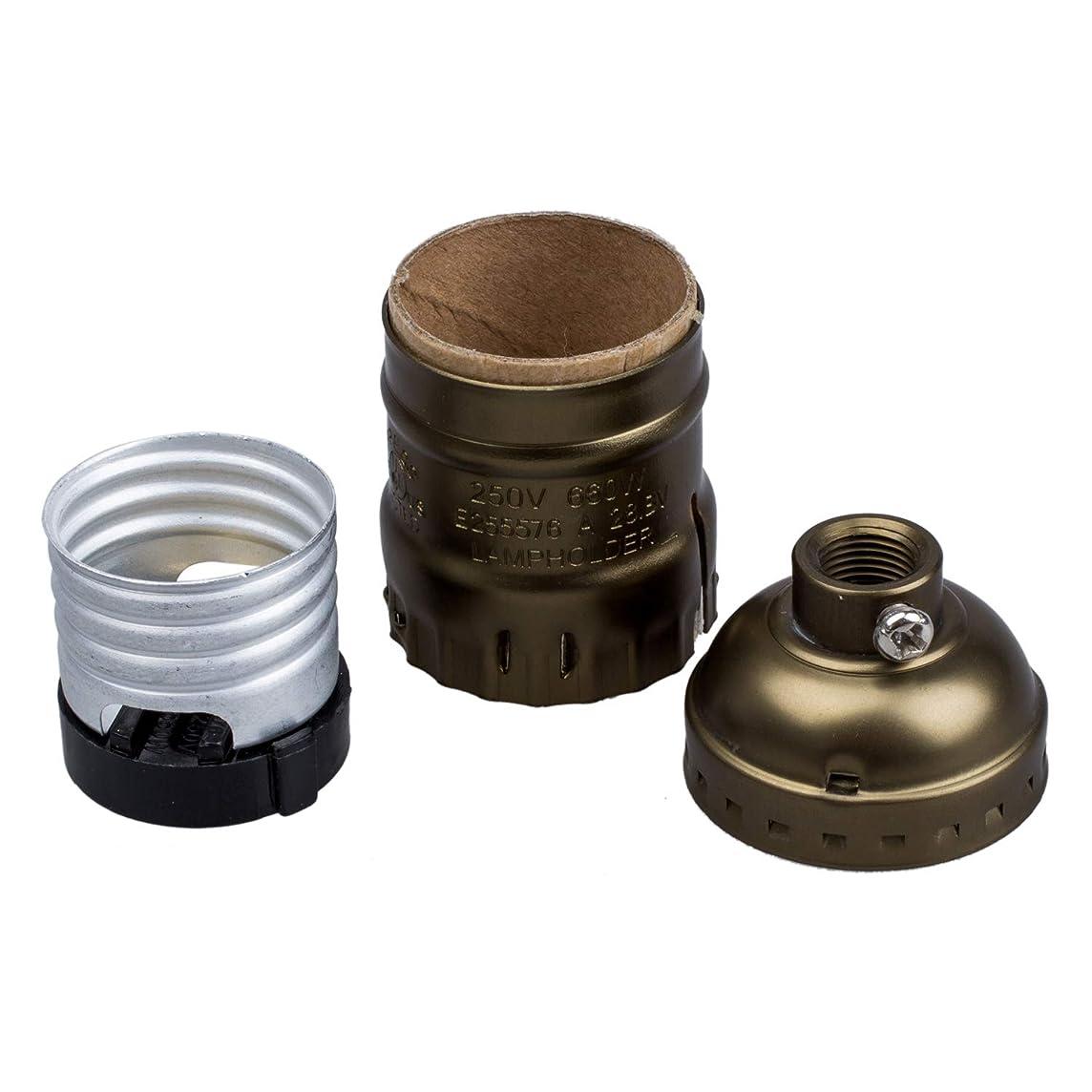 火炎レビュー監督するACAMPTAR E27エジソン球根 ビンテージスタイル銅(スイッチおよびワイヤなし)