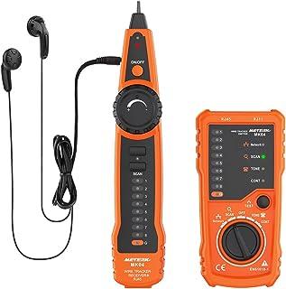 Tester de Cable, Meterk Comprobador de Cables RJ11 RJ45, Multifunción Cable Check Wire, Medidor para Mantenimiento de Red Collation, Prueba de Línea Telefónica, Prueba de Continuidad