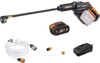 WORX 20 V accu mobiele hogedrukreiniger Hydroshot WG630E, 4,0 Ah, irrigatie, reiniging & desinfectie, multi-sproeimond, la...