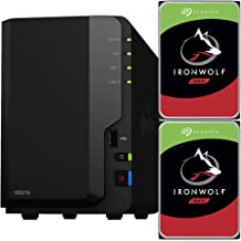 Synology DS218 2-Bay DiskStation NAS Bundle with 4TB (2 x 2TB) of Seagate Ironwolf NAS Drives Fully Assembled and Tested by CustomTechSales …