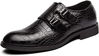 CAIFENG Oxfords d'affaires for Hommes Classique Chaussures avec Crochet et LoopStrap synthétique Bout Rond en Cuir Solide ...