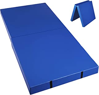 Happybuy Junior Practice Mat 6'x3' Folding Gym Mat High Density Folding Practice Mat 4 inch Thick for Gymnastics Stretching Core Workouts