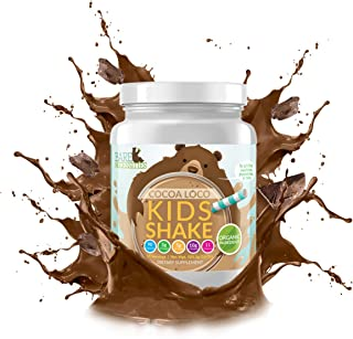 Bare Necessities Kids Protein Shake Mix. Nutritional Drink Powder That is Made Without Dairy, Gluten, or Soy. 10g Protein (Pea & Collagen) and 11 Vitamins. (Chocolate, 15 Servings)
