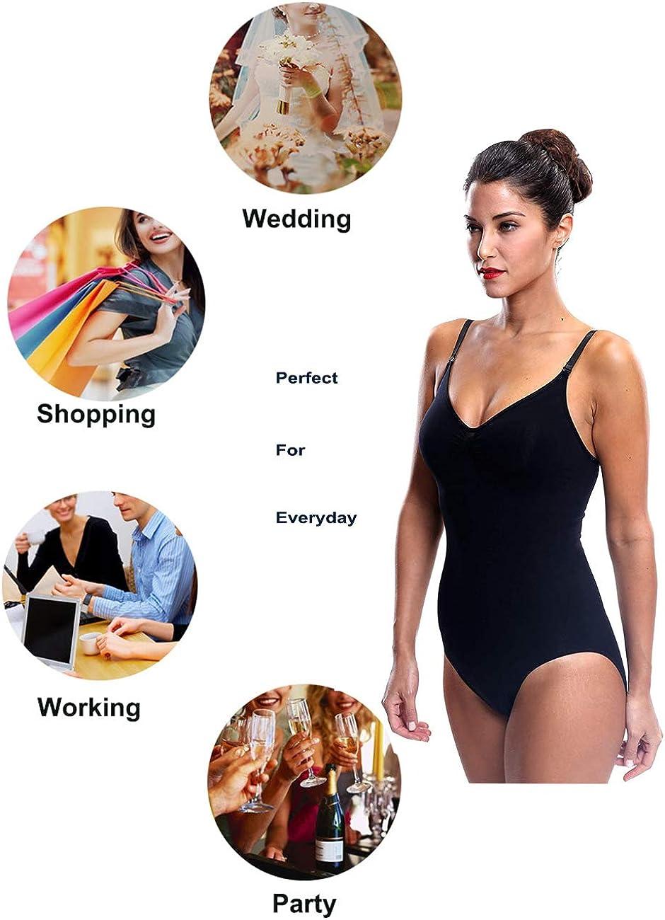 Franato Womens Bodysuit Firm Control Tight Slim Smooth Tank Body Shaper Shapewear