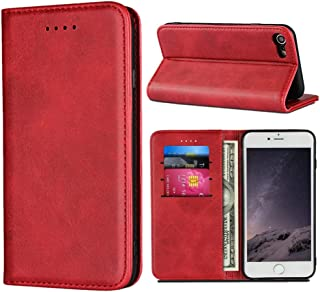 """Cavor for iPhone SE 2020 Case,iPhone 7 8 Case,Cowhide Pattern Leather Magnetic Wallet Case Cover with Card Slots(4.7"""")-Win..."""