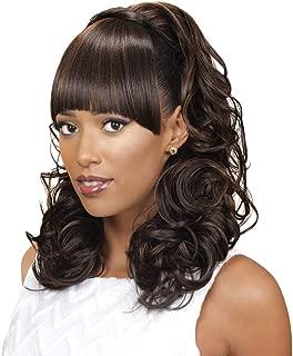 EVE HAIR Casablanca - 100% Heat Retardant Fiber 2 in 1 Bang & Ponytail - Bang Hair Extension with 17
