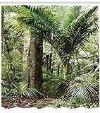 ABAKUHAUS Wald Duschvorhang, Gedeihend Jungle, Seife Bakterie Schimmel und Wasser Resistent inkl. 12...