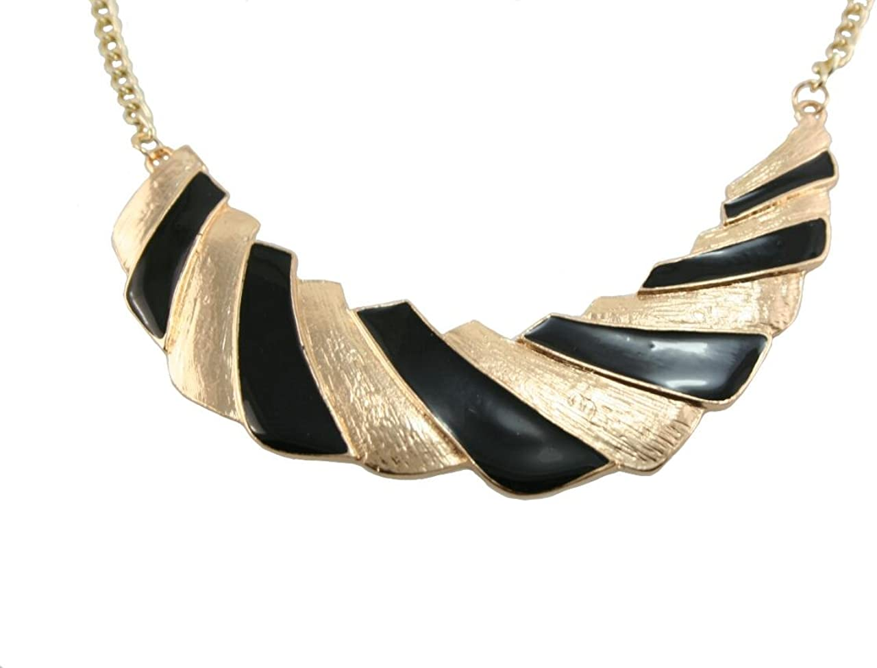 Gold and Black Bohemia Style Clavicle Collar Necklace