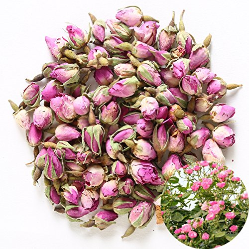 TooGet Duftende Natürliche Rosa Rosenknospen Rosenblüten Getrocknet Rosa Damascena Großhandel, Kulinarische Klasse - 60g