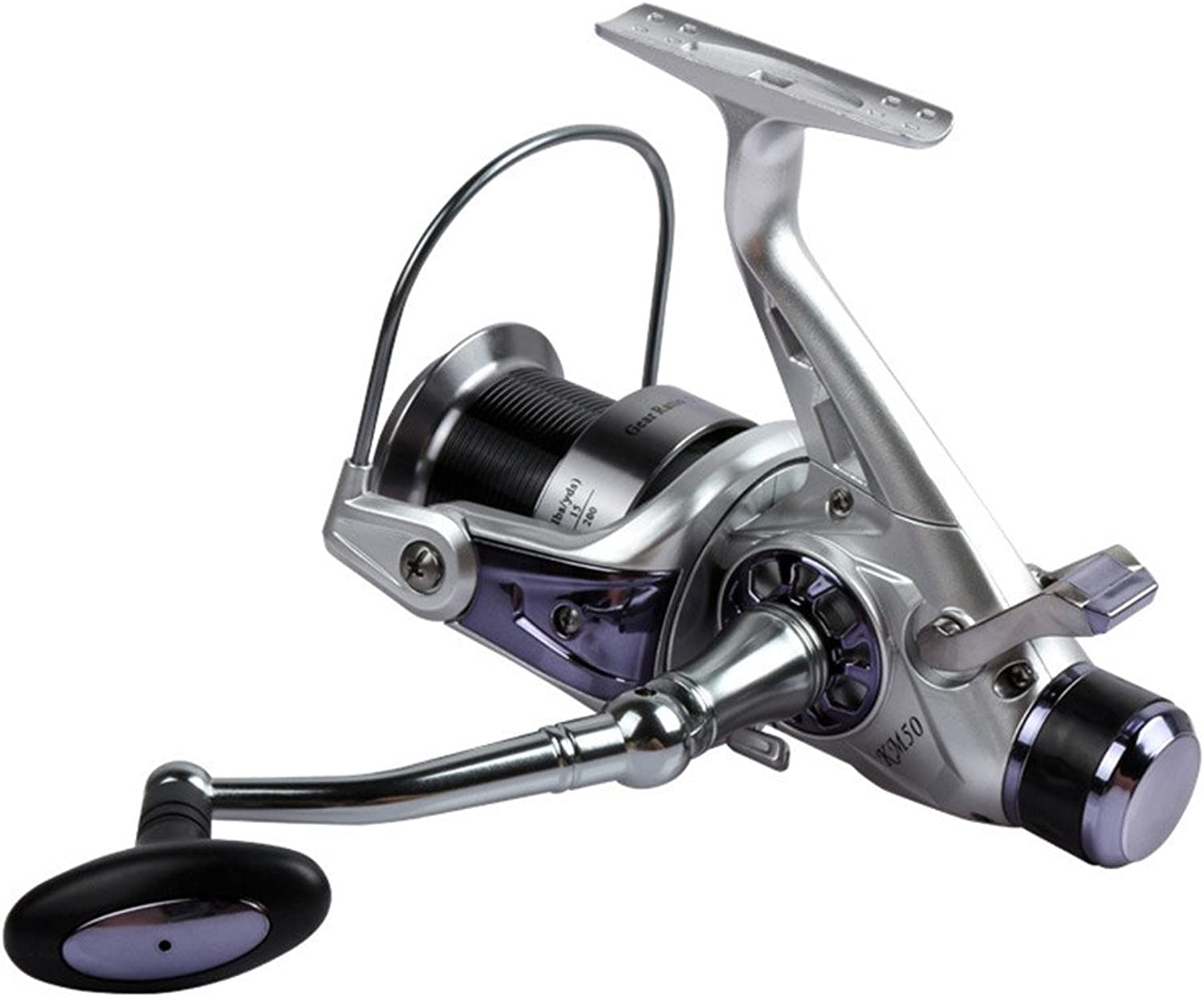 Fishing reels for Saltwater Freshwater Fishing Spinning Fishing Reel 11+1 Bearings Left Right Interchangeable Handle with Double Drag Brake System (Size   5000)