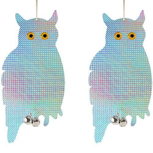 Price comparison product image Bird Blinder Reflective Hanging Owl - Repellent Control (2 Pack)