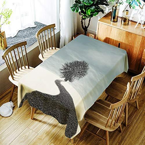 XXDD Mantel a Prueba de Agua con patrón de Planta Simple de Nueva Personalidad, Mantel de impresión Digital, Mantel Rectangular para el hogar A4 140x160cm
