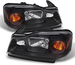 ACANII - For Black 2006-2007 Saturn VUE Headlights Headlamps Driver + Passenger Side Replacement 06-07 Set