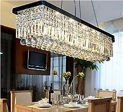 GOWE Rectangular fashion Light pendant lamp Bar Art crystal Chandelier parlor dining room restaurant hotel hall indoor lig...