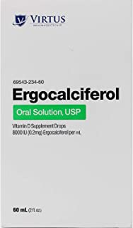 Ergocalciferol Oral Solution - Vitamin D2 - 60ml by Virtus Pharmaceuticals