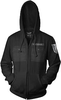 Attack on Titan Adult Unisex Scout Regiment Military Style Full Zip Fleece Hoodie