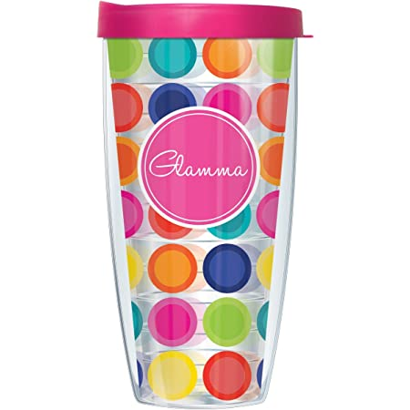 Amazon Com Signature Tumblers Summer Flip Flops Wrap On Clear 22 Ounce Double Walled Travel Tumbler Mug With Hot Pink Easy Sip Lid Kitchen Dining