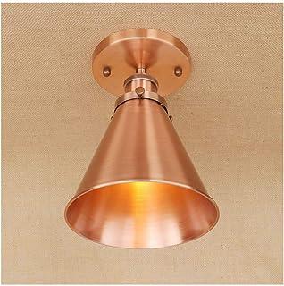 ضوء السقف، مصابيح السقف الرجعية النمط الصناعي الحديد المطاوع، E27 111V ~ 240V، ديكور المنزل غرفة نوم دراسة الرواق الإضاءة[...