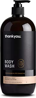 Thankyou Body Wash Botanical Sweet Orange & Almond - Nourishing, 1L (more options available)