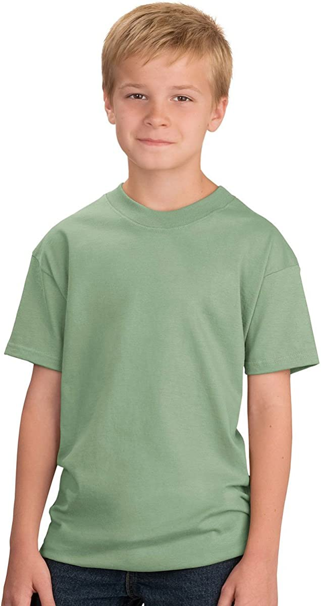 Port & Company - Youth Essential T-Shirt, PC61Y, Stonewashed Green, XS