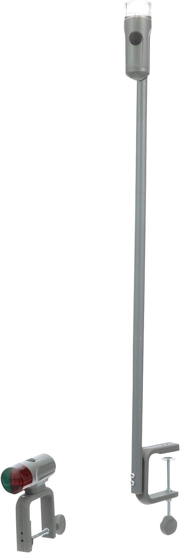 Seachoice 06261 Portable BatteryOperated LED Navigation Light Kit, Red Green Bow Light, White Stern Light