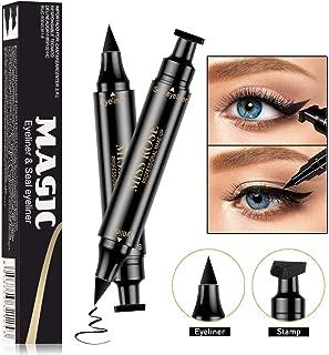 Winged Eyeliner Pencil Stamp - Winged Long Lasting Liquid Eye liner Pen,Perfect Cat Eye Look, Vamp Style Wing - Single,Small (Black)
