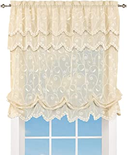 Best white lace balloon curtains Reviews