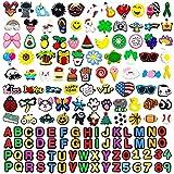 Kinear 150個 異なる形状のシューズチャーム クロコダイル&ジビッツバンド ブレスレット リストバンド パーティーギフト