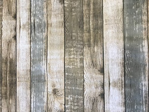 linen702 Rustic Wood Effect Vinyl Tablecloth | Suitable For Up To A Six Seater Table | Rectangle Table Cloth | Easy Wipe Clean | Textile Backed Plastic Tablecloth | 2 Metre Length (277)