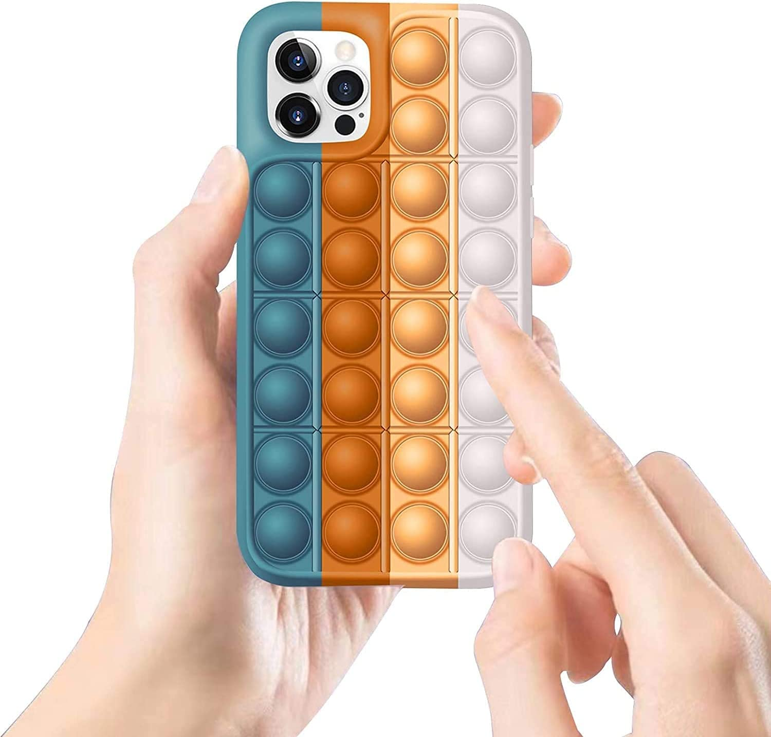 Fidget Toys Case for iPhone, Pop It Phone Case for iPhone 11, Push Pop Bubble Sensory Fidget Toy Soft Silicone Pop Shockproof Protective for iPhone11 (C6)