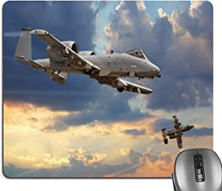 Knseva Airplane Mouse Pad, Peacekeepers Mission Jet up International Flight Picture Aviation Rectangle Mouse Pads
